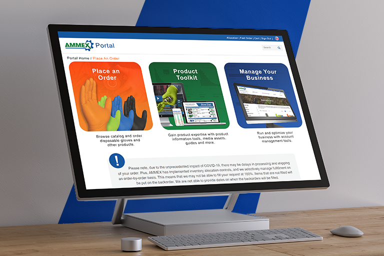 AMMEX's Online Portal is your one-stop shop for everything you need to manage your disposable glove distribution business.